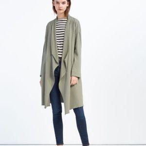 ZARA-  NEW Olive Cardigan Size M